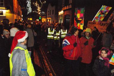 Christmas Fayre - The parade in full fllow