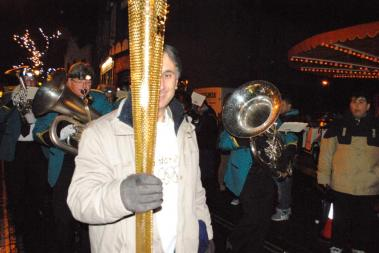 Christmas Fayre - Local Olympic torch bearer Mohammed