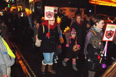 Christmas Fayre - Children from the local schools bring colour to the parade