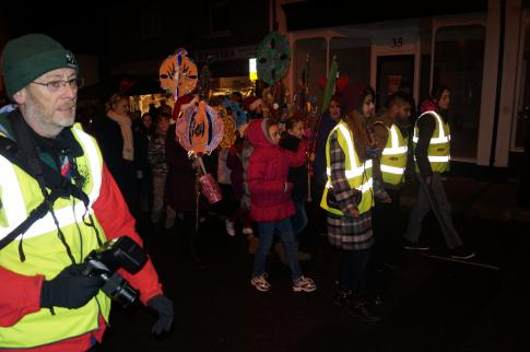 Local schools parade their decoration with Burnham Park Academy marshalling