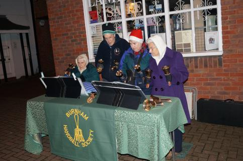 Burnham Handbell Society  bring their magical atmosphere