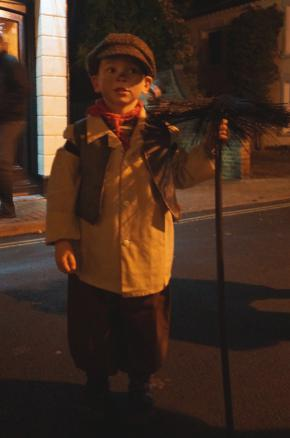 Luke Bielec from Dropmoor School dressed as a chimney sweep
