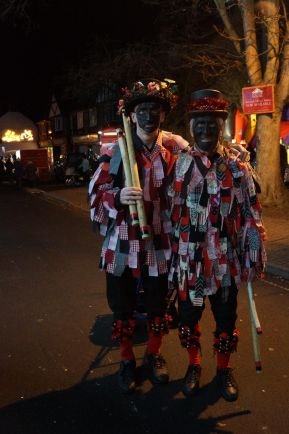Wonderfully dressed Morris Men