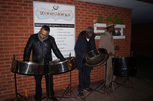 The steel band play Christmas carols