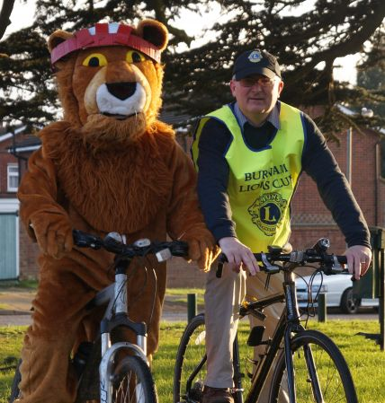 Lion President Phil abd ride organiser Lion John. Publicity shot prior to the event