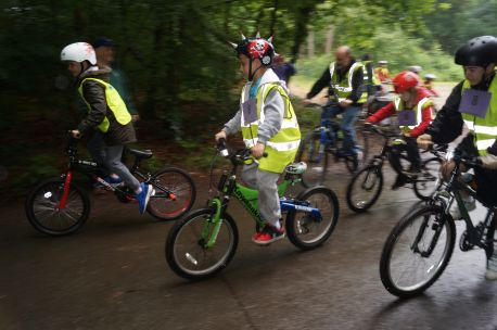 The first half of the Burnham Youth Club keenly set off