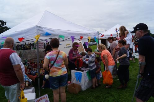 Lots of prizes in the tombola