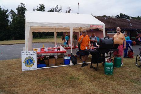 Lions marquee and BBQ stand