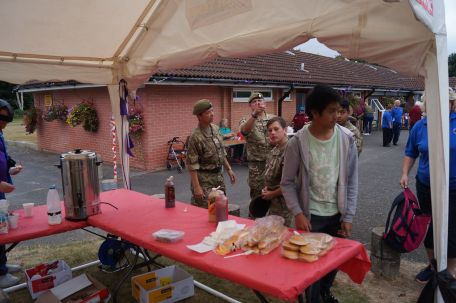 Some of the Slough Army Cadet volumteer helpers starving as usual