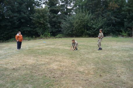 Abd the army cadets take measure the distance