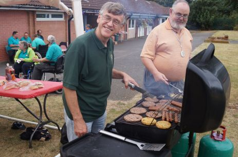 Lions Phil and Johm still on the BBQ after a change of shirt on the second day