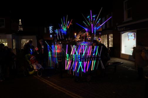 Fun Glowstick Stall on the Hight Street
