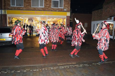 Morris dancers stripping the willow