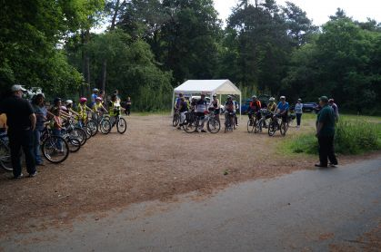 All riders wait their turn to start