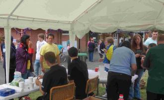 SADSAD Games - Lions and Cadets serving the food and drink