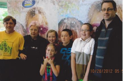 Burnham Lions and Youth Club swimathon team 2012