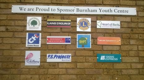 Youth Club sponsor wall